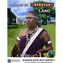 MonacanTribal Council Member Sue Elliott, Monacan Citizen Victoria Ferguson, Monacan Tribal Chief Kenneth Branham. Acknowledged with Respect.